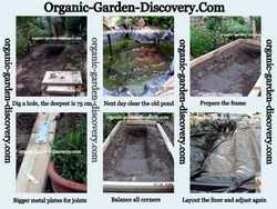 Backyard landscaping ideas with remodelling a wooden water garden and instruction on fixing the garden pond liners