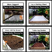 Completed a natural garden with a netting sheet and filled with ground